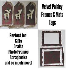 Velvet Paisley Collection Vintage Tags Frames Mats scrapbooking Embellishments