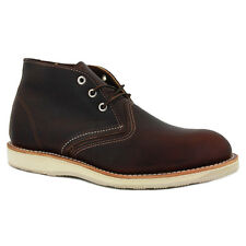 Red Wing Chukka 03141D Mens Laced Leather Chukka Boots Dark Brown