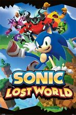 New Sega Sonic The Hedgehog Sonic Lost World From Wii U Poster