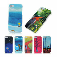 Nature Scenery Pattern Design Skin matte Feel Mobile Phone Case For iPhone 4/4S