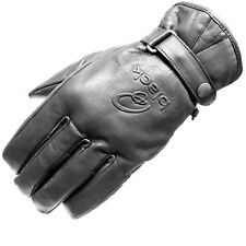 BLACK ECHO LEATHER MOTORCYCLE CLASSIC VINTAGE FASHION WATERPROOF BIKE GLOVES