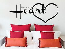 Follow Your Heart, Wall Art Sticker Quote Transfer Graphic Decoration