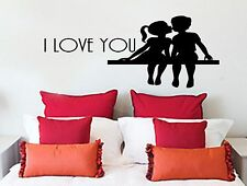 I Love You, Wall Art Sticker Quote Transfer Graphic Decoration