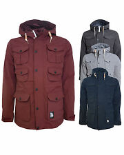New Mens Crosshatch Landcost Military Winter Parka Jacket Coat S M L XL XXL