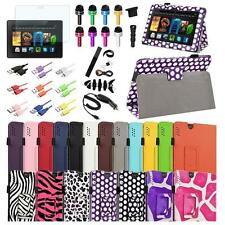 "For Amazon Kindle Fire HDX 7 7"" 2013 Folio Leather Stand Case Cover+Accessories"
