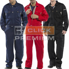 Heavy Duty Click Boilersuit Coverall Overalls Workwear Cargo Multi Pocket Knee