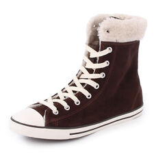Converse Chuck Taylor Dainty XHi 540305C Womens Suede Hi Top Trainers Brown