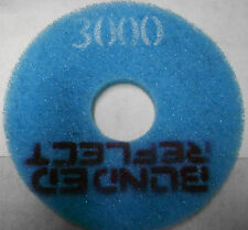 "5- 13"" CONCRETE FLOOR BONDED REFLECT SANDING POLISHING PADS CHOICE OF GRIT"