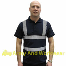 Hi Viz Safety Polo Collar T-Shirt Corporate Security Uniform Doorman Bouncer Bar