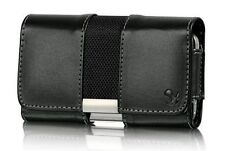 New Black Magnetic Leather Luxmo Belt Clip Pouch Holster Case for Cell Phones
