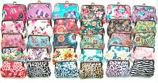 NEW 30 Color Choices Leopard Zebra Flower Butterfly Coin Purse SilverTone Hdwr