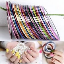 10 30 Rolls Mixed Colors Striping Tape Line Nail Art Decoration Sticker B20E