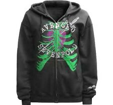 OFFICIALLY LICENSED AVENGED SEVENFOLD HEART ATTACK ZIP HOODIE SWEAT SHIRT S-3XL