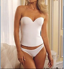 NWT WEDDING BRIDAL PROM LOW BACK PUSH UP LONGLINE BRA CORSET BUSTIER 32B-40D