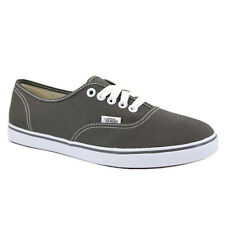Vans Authentic Lo Pro GYQ195 Womens Canvas Laced Trainers Grey White