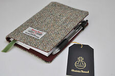 Luxurious Harris Tweed fabric A6 notebook cover - an A6 notebook included