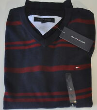 Tommy HOMME PULL NEUF 100% Coton BLEU Rouge COLV tailles S, L, XL, XXL 2014