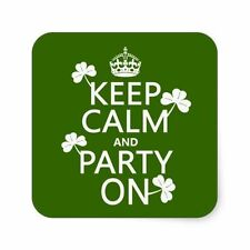 keep calm and party on st patricks pattys day funny tshirt