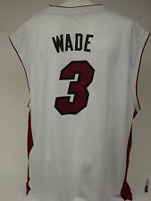 NEW Mens ADIDAS Dwayne WADE #3 Miami HEAT White NBA 7818A Revolution Jersey