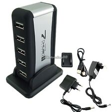 High Speed 7 Port USB 2.0 Mains Powered Hub External AC Power Adaptor Cable