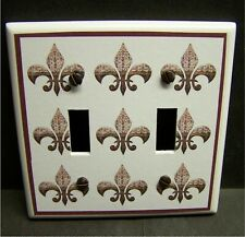 FRENCH FLEUR DE LIS  iMAGE # 30 HOME DECOR  LIGHT SWITCH COVER PLATE OR OUTLET