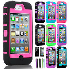 Choose Color Hybrid Shockproof Dirt Proof Durable Case Cover For iPhone 4 4G 4S