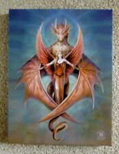 ANNE STOKES CANVAS  DRAGON WALL PLAQUE'S - GOTHIC DRAGONS -  MYSTIC MAIDENS