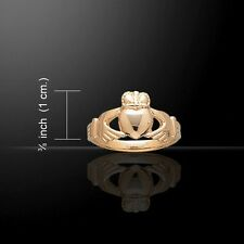 Beautiful Irish Celtic CLADDAGH GOLD Vermeil Friendship RING- Size Selectable