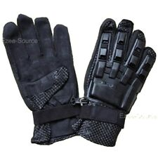 NEW SPORTS ARMORED PAINTBALL VENTED PROTECTIVE FULL FINGER LEATHER GLOVES - K1L