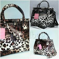 Anna Smith Kelly Doctor Leopard PATTERN SILVER hardware SHOULDER BAG