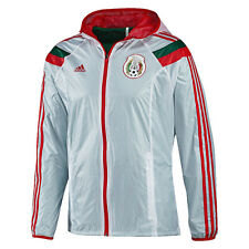 adidas Mexico World Cup WC 2014 Soccer Woven Hooded Presentation Jacket White