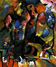 PICTURE WITH AN ARCHER 1909 HORSE ABSTRACT PAINTING BY VASILY KANDINSKY REPRO