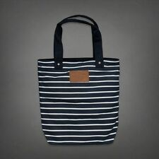 ...  Fitch NWT Navy Blue  White Striped Tote Book Beach Gym Bag