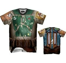AUTHENTIC STAR WARS IT'S BOBA FETT ALLOVER SUBLIMATION COSTUME T TEE SHIRT S-2XL