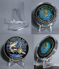 1, 5 or 10 pk Air-tite Military Coin Holder Display Easel USN