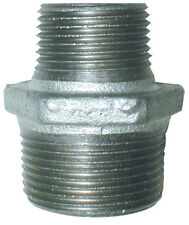 "Galvanised BSP Reducing Hex Nipple Male Fitting, 1 1/4"" x 1/2"" up to 2"" x 1 1/2"""