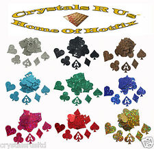 POKER CARD SUITS GLITTER STICKER SELF ADHESIVE CARD MAKING EMBELLISHMENT TOPPER