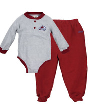 NHL Infant Colorado Avalanche Baby Long Sleeve Creeper and Pants Combo Set