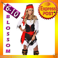 I52 Ladies Pirate Wench Musketeer Caribbean Swashbuckler Fancy Dress Costume