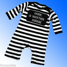 DONE 9 MONTHS INSIDE Baby Boys Romper Suit All in One Newborn 0 3 6 12 Months