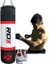 RDX 5FT / 4FT UnFilled Punch Bag Set Boxing Gloves Punching Muay Thai MMA Kick A