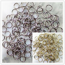 Wholesale 1000pcs 4mm,5mm,6mm,8mm,10mm Bronze/Black Plated Metal Jump Rings