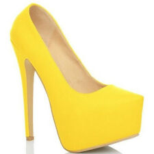 New Womens Fashion High Heel Stilettos Platform Pumps Shoes UK 2 3 4 5 6 7 8 9