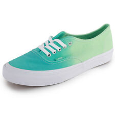 Vans Ombre Authentic Slim Womens Canvas Trainers Light Green New Shoes All Sizes