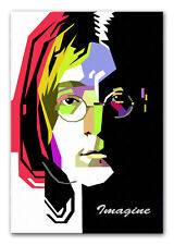 JOHN LENNON CANVAS PRINT GICLEE POP ART - IMAGINE MUSIC PICTURE POSTER ARTWORK
