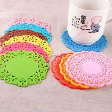 SILICONE COASTER MAT PAD CUSHION DRINKS TEA CUP BOWL HOLDER TABLEWARE PLACEMAT