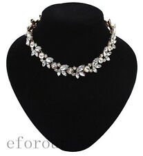 Hot women Party Luxury Retro Fashion Temperament Short Necklace Bright Flowers