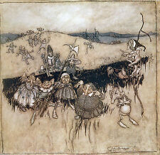 Arthur Rackham BOOK OF PICTURES 1913 Ref 08 PRINT A4 or A5 Size Unframed