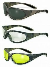 Digital Camo Army Camouflage Safety Sun Glasses-Shooting-Riding-Choice of Lenses