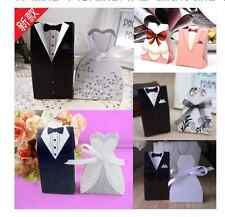 100pcs,a variety of Personalized wedding candy box creative dress candy bags j